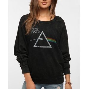 NWOT UO Pink Floyd Acid Wash Black Sweatshirt